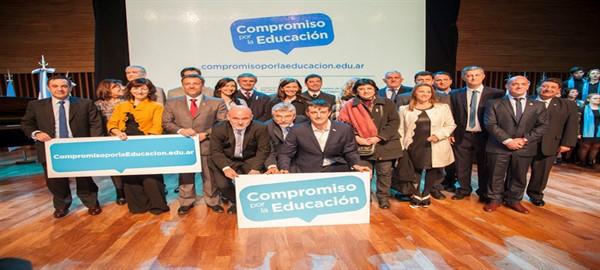 """Soledad Acuña ministra de Educacion  de la Ciudad firmó el acuerdo de """"Compromiso por la Educación"""""""