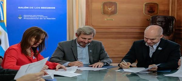 Rodriguez Larreta, Vidal y Frigerio firmaron acuerdo para soluciones  habitacionales para la Cuenca Matanza Riachuelo