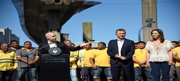 Ciudad, Nación y Provincia anunciaron el inicio de las obras del Paseo del Bajo