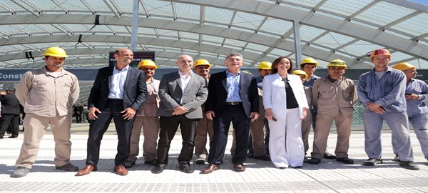 Macri-Rodriguez Larreta y Vidal inauguraron el Nuevo Centro de Trasbordo Constitución