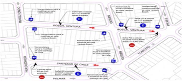 Nuevo cambio del sentido de circulación en calles de la Comuna 9