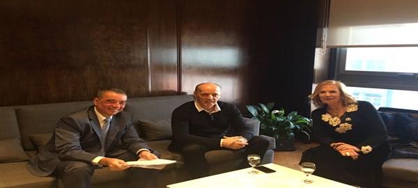 Reunion de los Defensores del Pueblo Amor  y Gonzales con el titular del PAMI