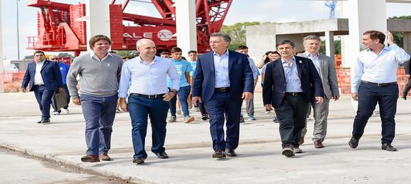 Mauricio Macri y Horacio Rodriguez Larreta visitaron las obras de la Villa Olimpica