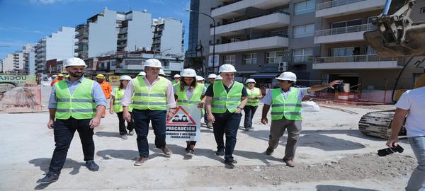 Rodríguez Larreta recorrió la obra del Paso Bajo Nivel Nazca