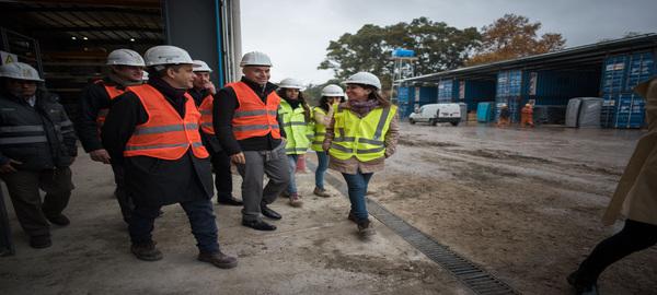 Viaducto Mitre:Horacio Rodríguez Larreta visitó la fábrica que produce materiales para la obra