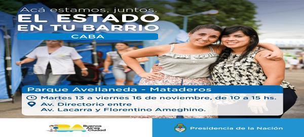 El Estado en tu Barrio en Parque Avellaneda