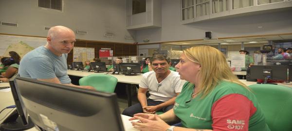 Rodríguez Larreta visitó el SAME para supervisar el trabajo contra el coronavirus