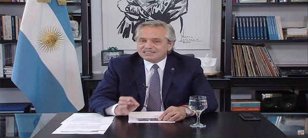 Alberto Fernández en el Foro de Davos